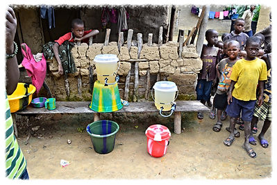 Water filters in use