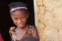 Village girl smiling