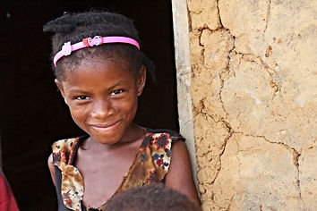 Village girl smiling