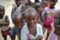 Village kids smiling