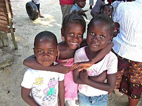 Smiling village children