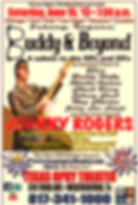 """Johnny Rogers """"Buddy and Beyond"""" Poster"""