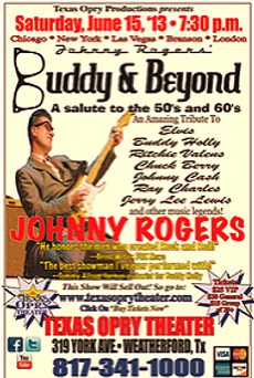 "Johnny Rogers ""Buddy and Beyond"" Poster"