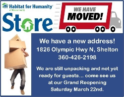 Habitat to Temporarily Close Shelton Store Location to Complete Move