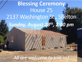 Habitat Home #25 – Come Bless this Venture! August 28th, 2:00 p.m.