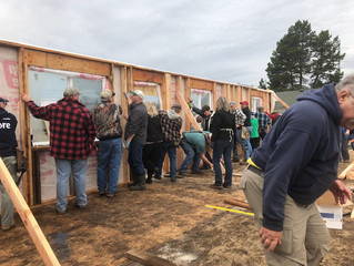 Wall Raising Ceremony for House #29