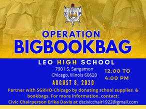Delta Sigma Sorors Kicks Off the School Year w/Operation Big Book Bag!