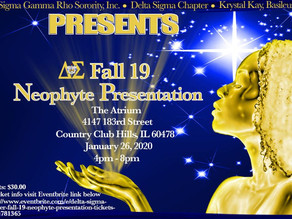 FALL 19 Neophyte Presentation:  Welcome Sorors!