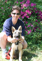 Lisa Hutto with Chaz (Munchkin) 4-17-10.