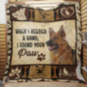 GSD quilt picture to advertise FUNDRAISE