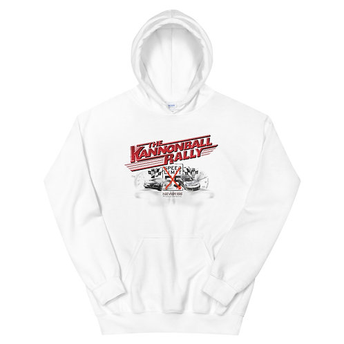 Special Edition White-Only Kannonball Rally Hoodie!