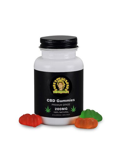 The High Life CBD Gummies - Premium Grade Isolate 100% Natural - 200MG CBD - 20p