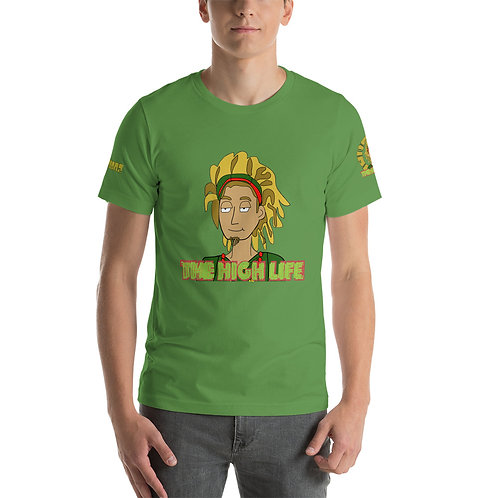 Designer Print Rasta Colors Short-Sleeve Unisex T-Shirt