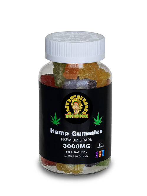 The High Life Vegan Hemp Seed Oil Gummies  60p - 50mg (3000mg)