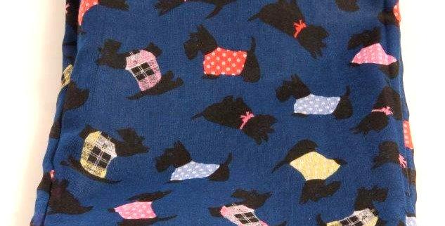 'Hector' scarf navy blue