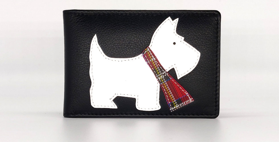 Credit Card Holder - Scottie dog Black