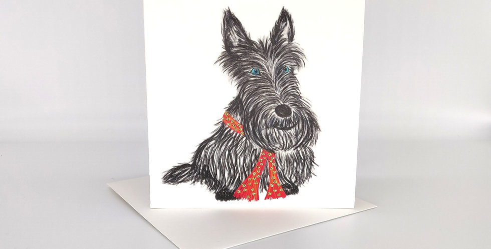 Scottie Sketch Greeting Card