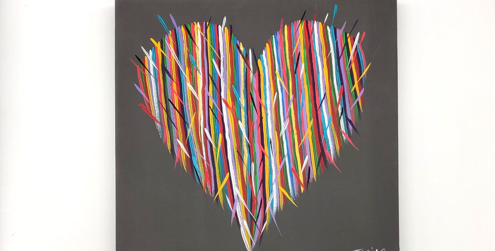 "Original 8"" x 10"" Heart Acrylic Painting"