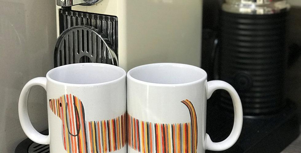 Dachshund Mug -Orange