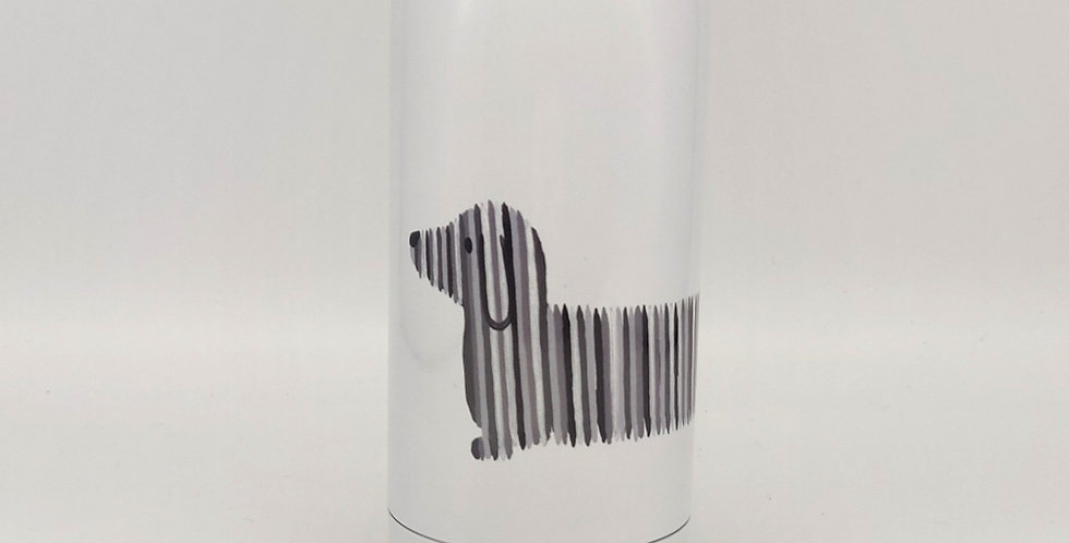 Chilly style Dachshund water bottle - Black & White