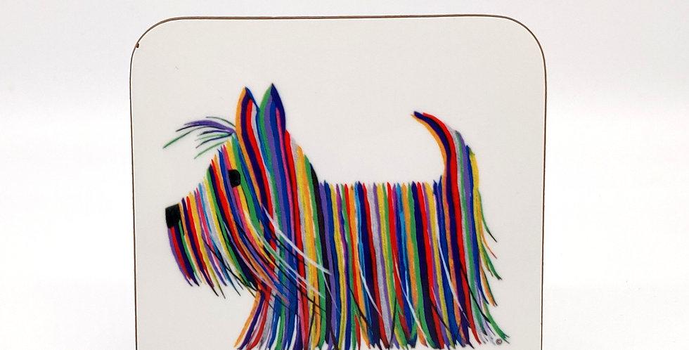 Scottie Dog Coaster - Hector Original Print