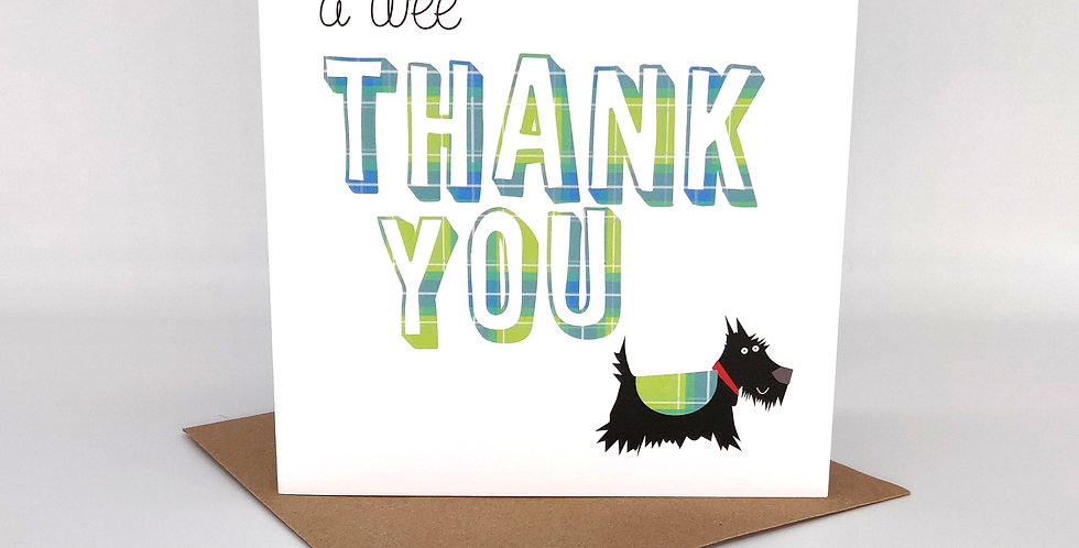 A 'Wee Thank You' Scottie Card