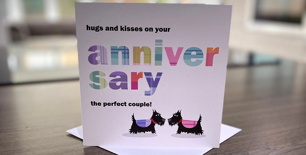 Anniversary Card - Scottie Dogs
