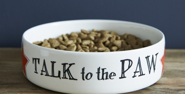 Dog bowl - Talk to the Paw