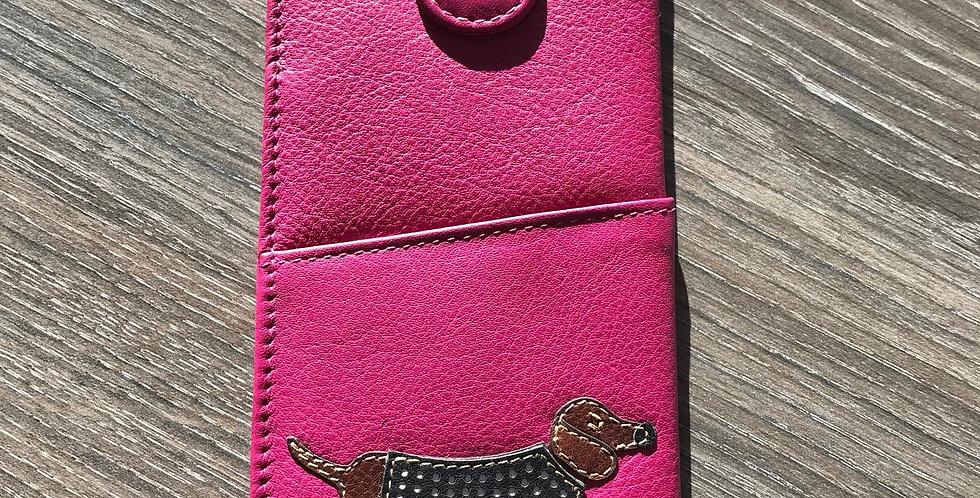 Dachshund Glasses Case - Pink Dotty