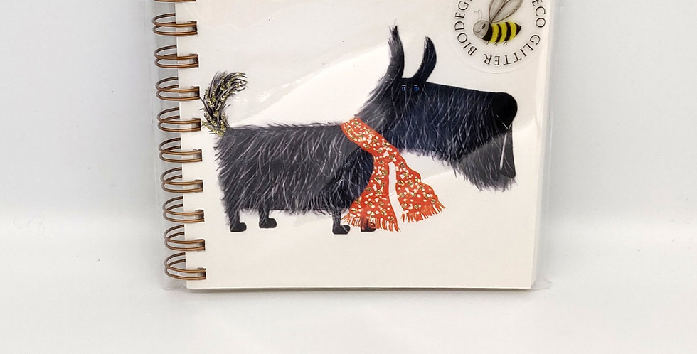 Notebook Hairy Scottie Dog Small