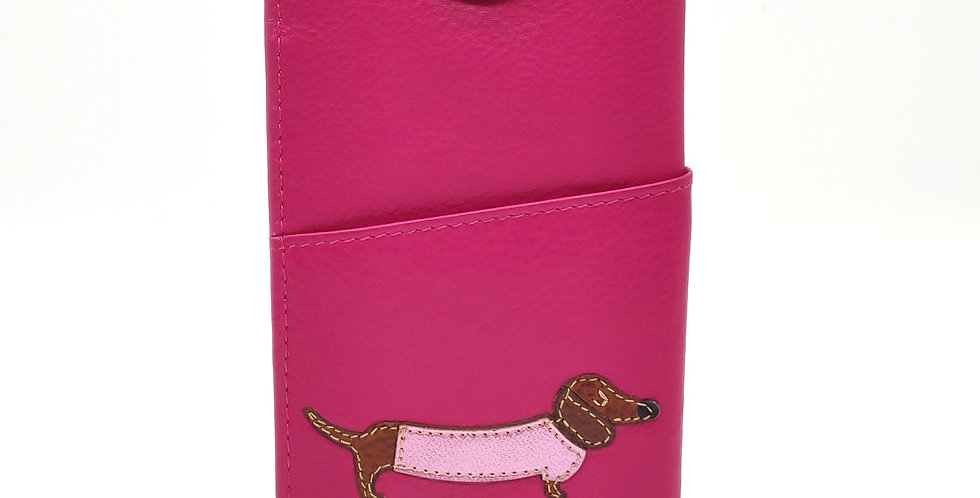 Dachshund Glasses Case - Pink