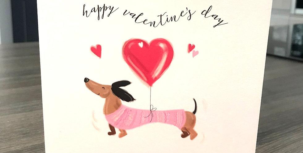 Dachshund Valentine Greeting Card