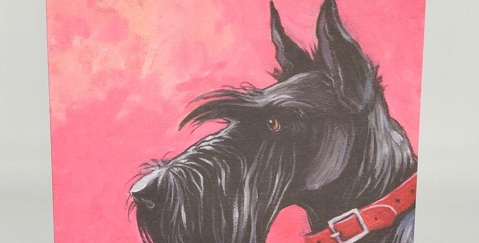 Black Scottish Terrier Card - Blank