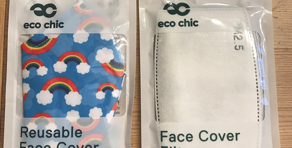 Face Mask & 5 x Filter pack - Rainbow