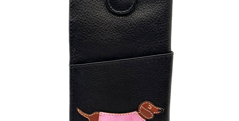 Dachshund Glasses Case -Black