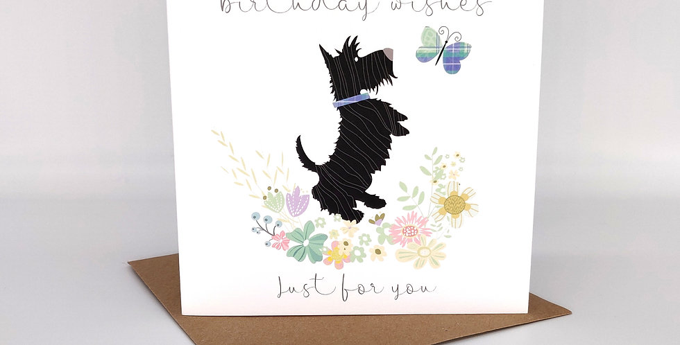 'Birthday Wishes Just for You' Scottie Card