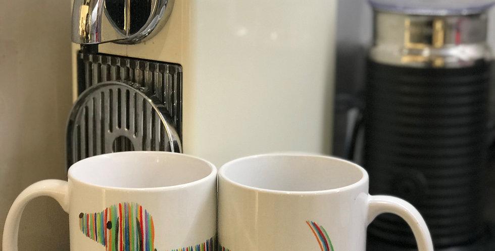 Dachshund Mug - Rainbow