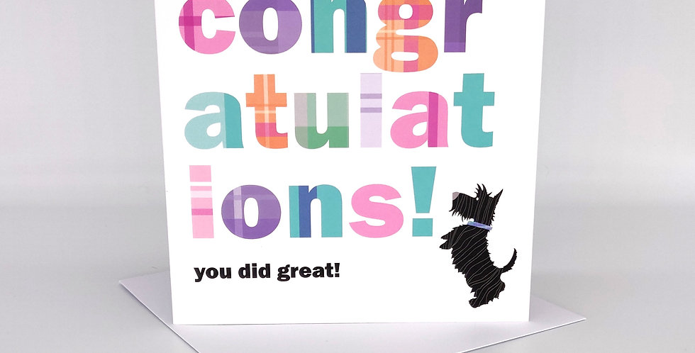 Scottie 'Congratulations' Card