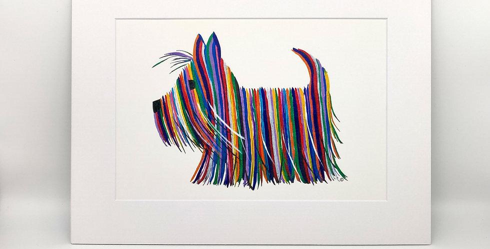 Scottie Dog 30cm x 40cm Mounted Print