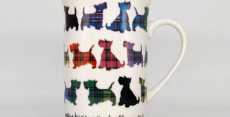 Tartan Scottie Dog Mug