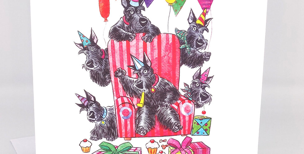 Scottie dog Greeting Card Party - Blank