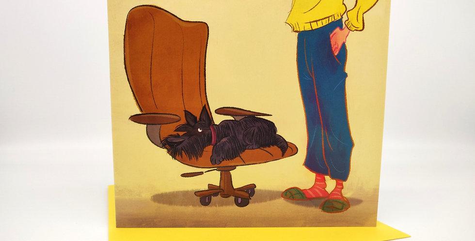 'My Chair' Greeting Card