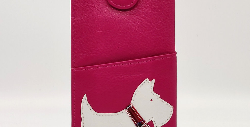 Scottie Dog Glasses Case - Pink