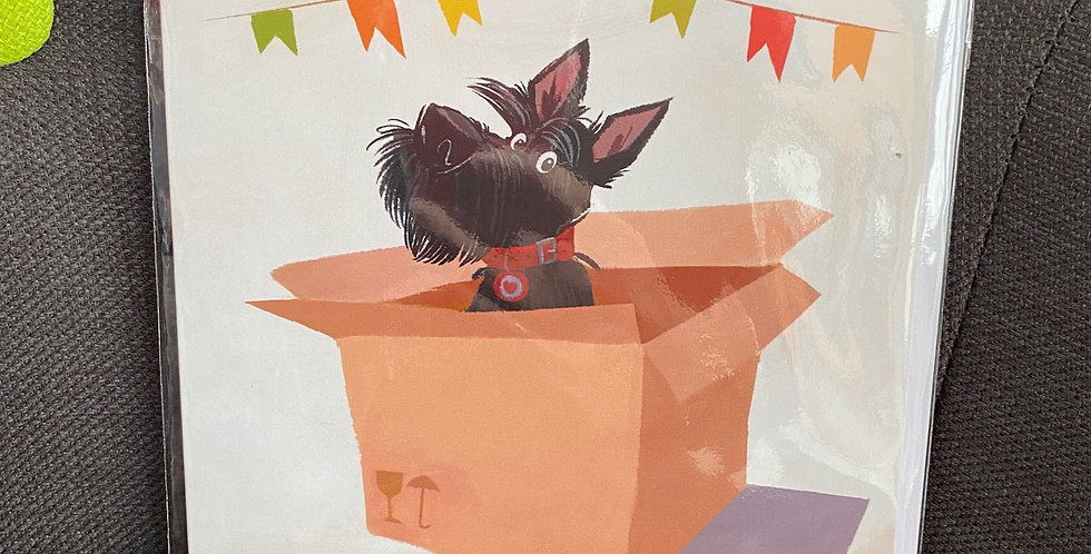 Scottie in a box Blank Greeting card