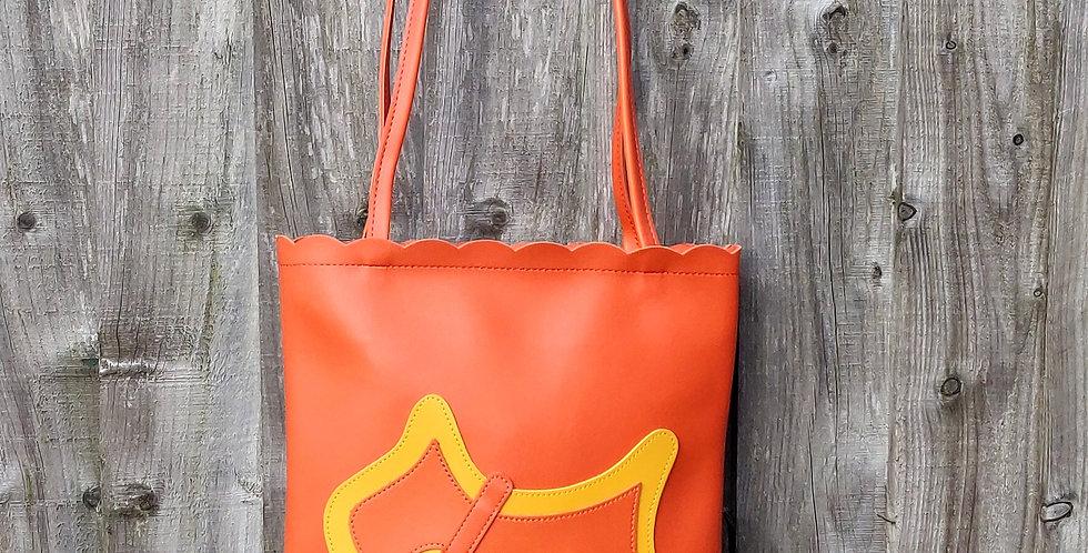Scottie Dog Two Tone Shoulder Bag - Orange