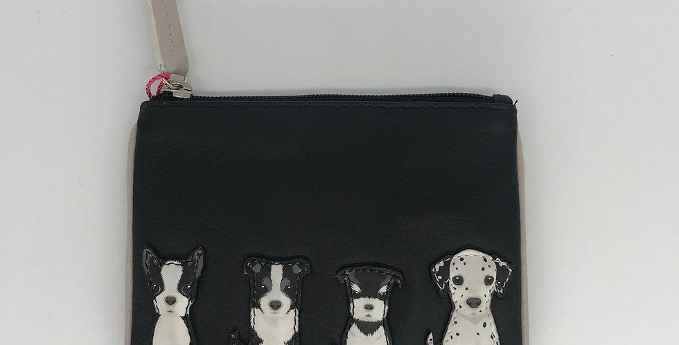 Black Purse -Dalmatian, French bulldog, Terrier, Border Collie