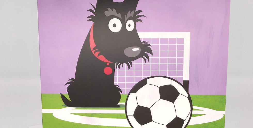 Scottie Dog Card, Football - Blank