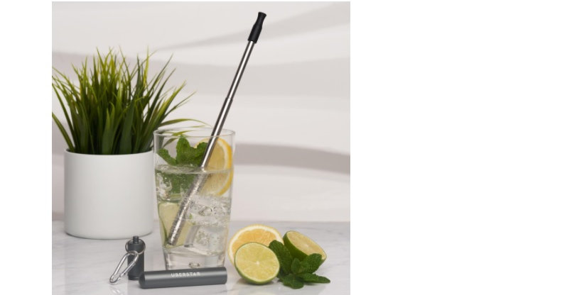 Travel Stainless Steel Straw - Space Grey