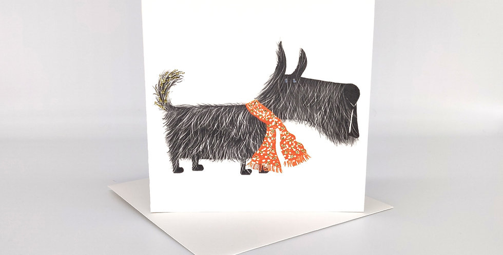 Hairy Scottie Greeting Card