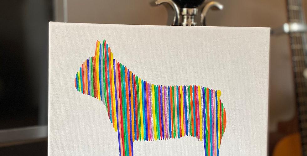 French Bulldog Rainbow Wall Art - Small